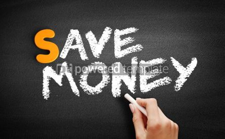 Business: Save Money text on blackboard #00961