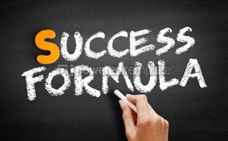 Business: Success Formula text on blackboard #00965