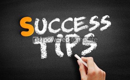 Business: Success Tips text on blackboard #00967