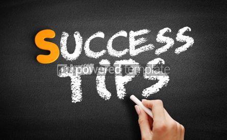 Business: Foto - texto de dicas de sucesso no quadro-negro #00967