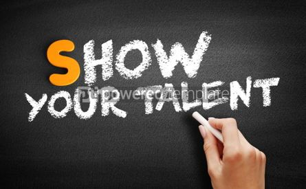 Business: Show your talent text on blackboard #00973