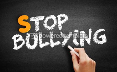 Business: Stop Bullying text on blackboard #00975