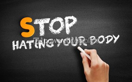Business: Stop Hating Your Body text on blackboard #00976