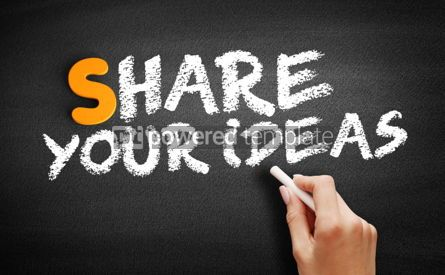 Business: Share Your Ideas text on blackboard #00977