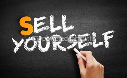 Business: Sell Yourself text on blackboard #00979