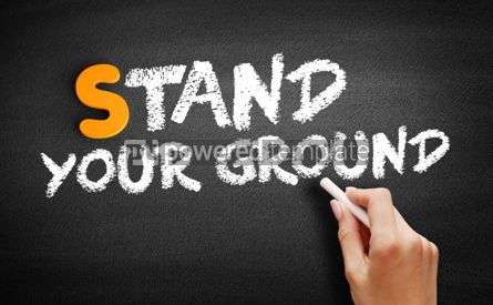 Business: Stand Your Ground text on blackboard #00981