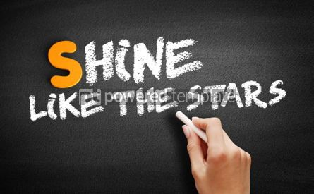 Business: Shine Like the Stars text on blackboard #00984