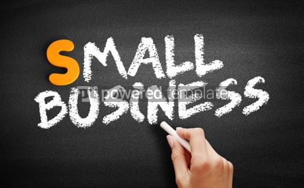 Business: Small Business text on blackboard #00986