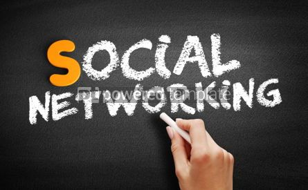 Business: Social Networking text on blackboard #00988