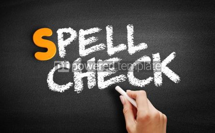 Business: Spell Check text on blackboard #00990