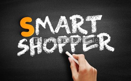 Business: Smart Shopper text on blackboard #00992