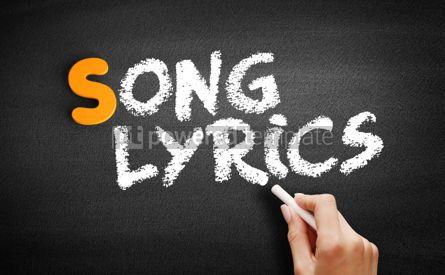 Business: Song Lyrics text on blackboard #00993
