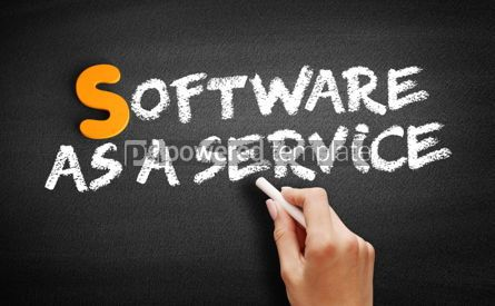 Business: Software As A Service text on blackboard #00995
