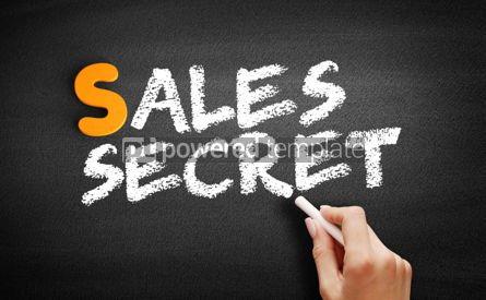 Business: Sales Secret text on blackboard #00997
