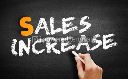 Business: Sales Increase text on blackboard #00998