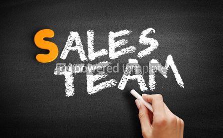 Business: Sales Team text on blackboard #01001