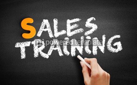 Business: Sales Training text on blackboard #01002