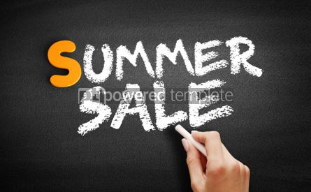 Business: SUMMER SALE text on blackboard #01003