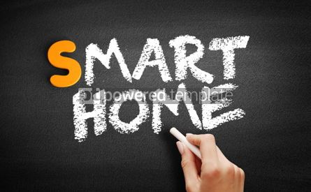 Business: Smart Home text on blackboard #01005
