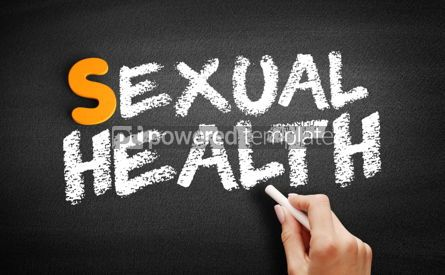 Business: Sexual Health text on blackboard #01006