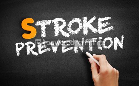 Business: Stroke prevention text on blackboard #01007