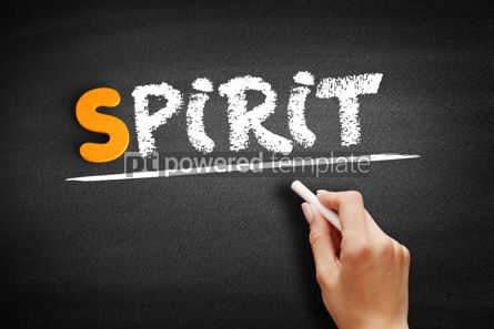 Business: Spirit text on blackboard #01011