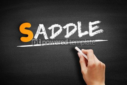 Business: Saddle text on blackboard #01014