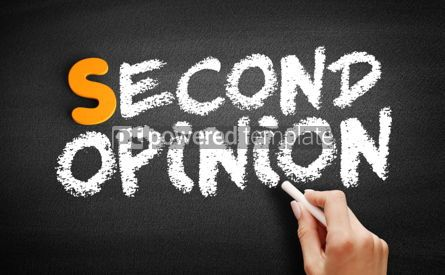 Business: Second opinion text on blackboard #01021