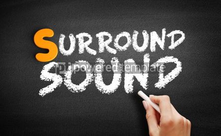 Business: Surround sound text on blackboard #01024