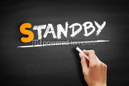 Business: Standby text on blackboard #01026