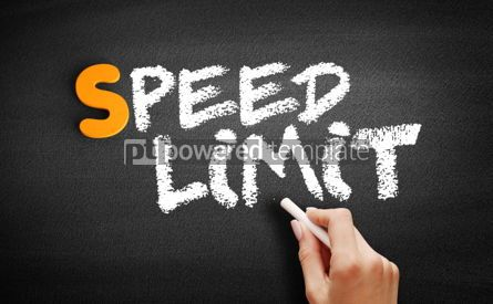 Business: Speed limit text on blackboard #01029