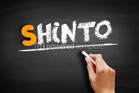 Business: Shinto text on blackboard #01031