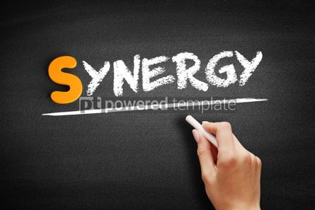 Business: Synergy text on blackboard #01032