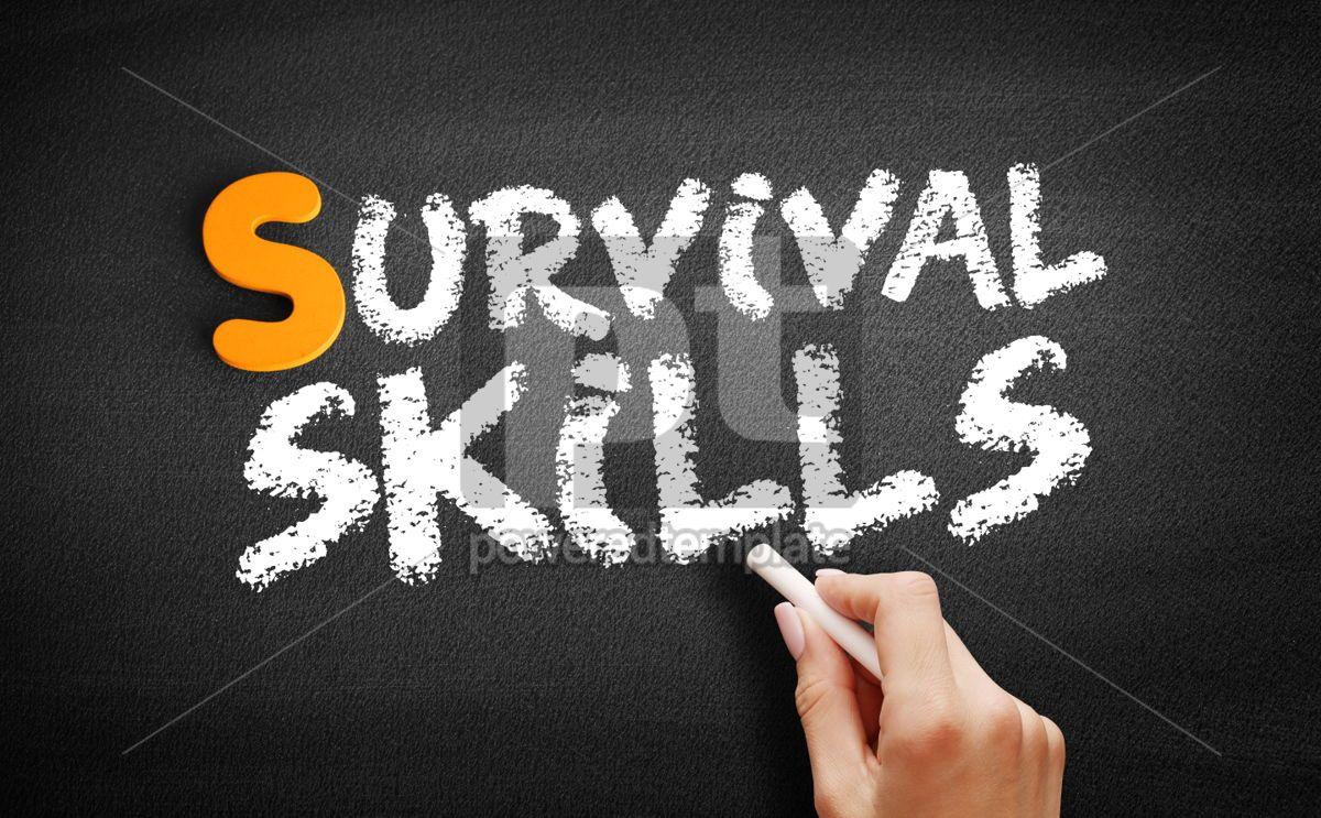 Survival skills text on blackboard, 01033, Business — PoweredTemplate.com