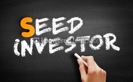 Business: Seed investor text on blackboard #01035