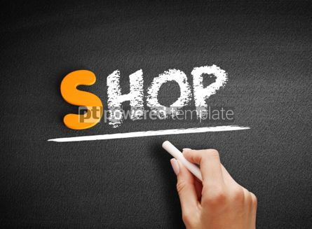 Business: Shop text on blackboard #01038