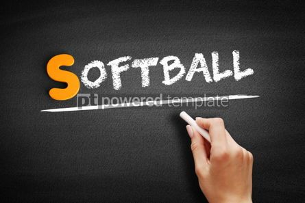 Business: Softball text on blackboard #01039
