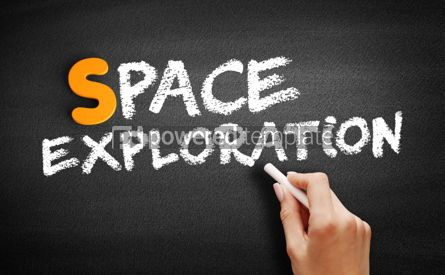 Business: Space exploration text on blackboard #01041