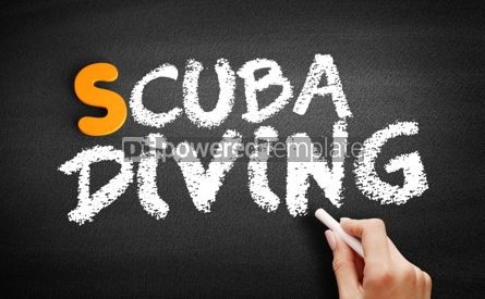 Business: Scuba diving text on blackboard #01048