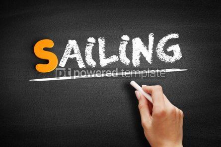 Business: Sailing text on blackboard #01049