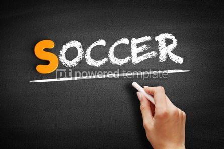 Business: Soccer text on blackboard #01051