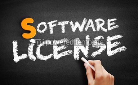 Business: Software license text on blackboard #01053