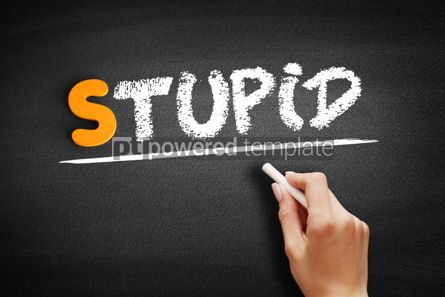 Business: Stupid text on blackboard #01054