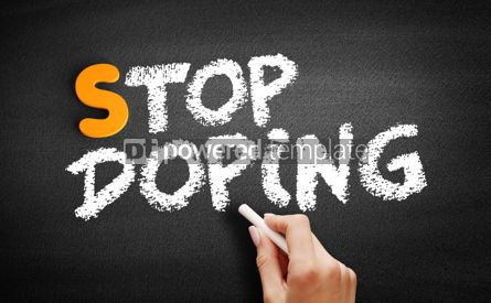 Business: Stop Doping text on blackboard #01057