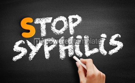 Business: Stop Syphilis text on blackboard #01058