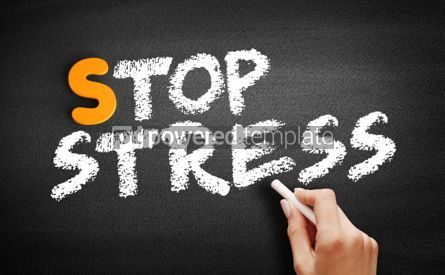 Business: Stop Stress text on blackboard #01059