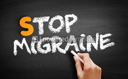 Business: Stop Migraine text on blackboard #01061
