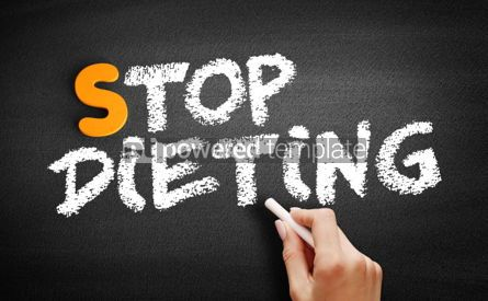 Business: Stop Dieting text on blackboard #01062