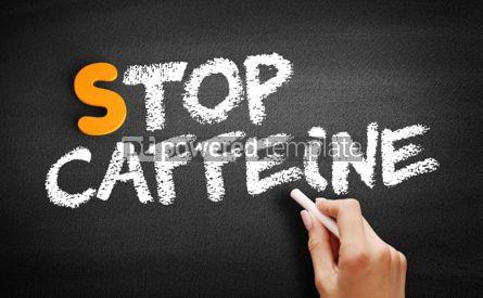 Business: Stop Caffeine text on blackboard #01063