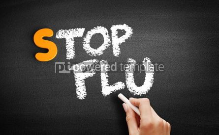 Business: Stop Flu text on blackboard #01068